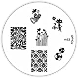 KONAD M83 Stamping Stencil, Metal, Reusable, with Beautiful Stamp Designs by Konad