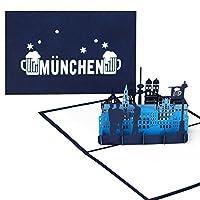 Un message en de Munich avec effet WOW. Que ce soit comme souvenir de voyage, cadeau, invitation pour la fête de la bière ou carte de vœux en Bavière-Cette carte pop up est garantissent une belle surprise. Lors de l'ouverture de la carte se déploie...