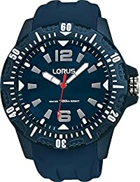 Lorus Mens Quartz Watch, Analogue Classic Display and Silicone Strap RRX07EX9