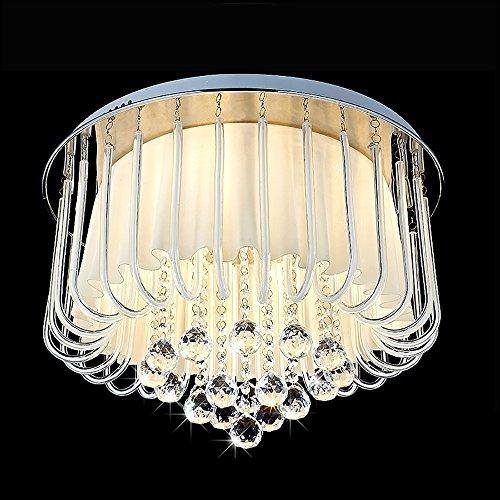 TOYM UK Pastorale Blume Led Kristall Deckenleuchte Schlafzimmer Esszimmer Beleuchtung Kinderzimmer Lampen (Schraube-lampen-farbtöne)