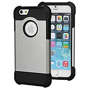 iPhone 6 Case, ZiLu® ULTIMATE ARMOR iPhone 6 Case Double Layer Shock Absorbing Black iPhone 6 Cover | Best iPhone 6 Case for 4.7 inch Screen - Black / Black