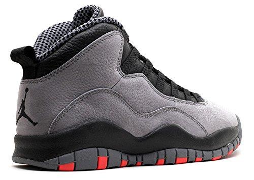 Nike Herren Air Jordan Retro 10 Basketballschuhe, Grau cool grey, infrared-black