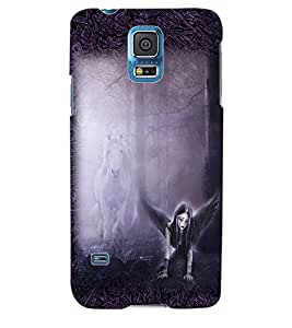 ColourCraft Dark Angel Back Case Cover for SAMSUNG GALAXY S5