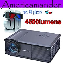 los datos más brillante 4500Lumen Full HD DLP negocio Publicidad Educación ARBUYSHOP negros muestran 300inch Proyector 3D Proyector de Beamer Projektor