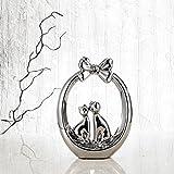 Purelifestyle, GYP038, Porzellan Verliebte Katze Figuren Skulptur Deko Geschenk Tischdeko Raumdeko Höhe 29,5 cm