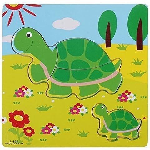 Sannysis Wooden Puzzle Educational Developmental Training Toy(Turtle) by sannysis