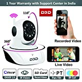 #9: D3D Wireless HD IP Wifi CCTV indoor Security Camera,(White Color)