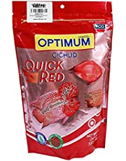 Optimum Cichlid Quick Small Pellet Fish Food, Red, 300 g