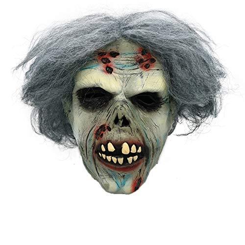 VECDY Karneval Venezianische Gruselige Zombie mit Haar Cosplay Helm Halloween Kostüm Karnevalsmaske Terroristische Perücke Ballmaske Maskerade