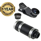 Lambent 3in1 Lens Kit Clip Fish-eye With Wide Angle & Macro With 8x Mobile Camera Telescope For Redmi, Samsung, Nokia, Iphone 6/7/8, All Other Smart Phones - Assorted Color