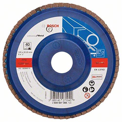 Bosch 2608607365 125 mm 40 Grit Metal Flap Disc