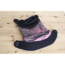 emeibaby Trage Sondermodell Treemei Petrol Pink - Kombination aus Tragetuch und Tragehilfe