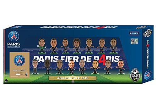 SoccerStarz  Paris St Germain Quadruple Winners Celebration 15 Player Team Pack