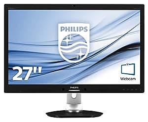 Philips 271P4QPJKEB/00 68,6 cm (27 Zoll) MVA-Monitor (VGA, DVI, HDMI, USB, DisplayPort, 1920 x 1080, 60 Hz, höhenverstellbar, Pivot, Powersensor) schwarz
