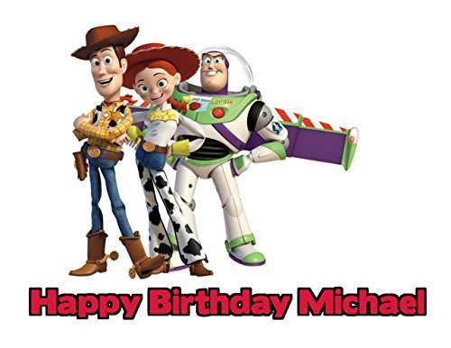 Toy Story Edible Image Photo Cake Frosting Icing Topper Sheet Personalized Custom Customized Birthday Party - 1/4 Sheet - 79186 by Sweet Custom Cakes