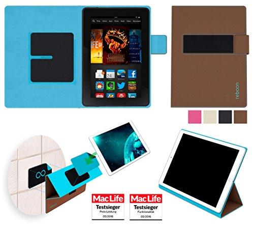 reboon Hülle für Amazon Kindle Fire HDX 7 Tasche Cover Case Bumper   in Braun   Testsieger