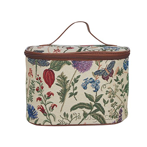 Signare Womens Vanity Bag/ Toiletry Case/ Make-Up Case, Available in 14 Designs (Morning Garden) by Signare