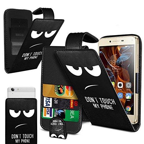 Preisvergleich Produktbild fürN4U Online - Various gemustert bedruckt Clip On Kunstelder Klapptasche Cover For Cubot S350 - Nicht Touch - Augen