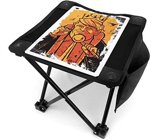 123456789 Klappbarer Campinghocker Donald Trump King President 2020 Leichte Outdoor-Stühle Camping Sitz mit Tragetasche