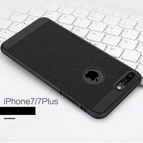 2-in-1 Cover iPhone 6/6s Plus Favo Anti-Surriscaldare Matte Custodia Bumper + Copertura Completa Pellicola Protettiva,JELLYEA 360° Ultra-Sottile Ultra-Leggera Anti-Graffio Case Caso per Apple6/6s Plus Nero