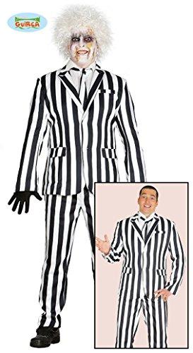 20er Jahre Geist Halloween Gangster Herren Kostüm Anzug Gefangener Sträfling M/L, Größe:L (Gangster Kostüm Geist)