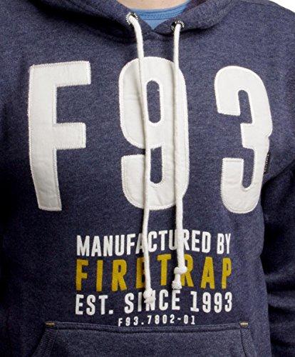 Firetrap -  Felpa con cappuccio  - Uomo Baynes-Midnight