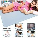 ASAB Kühlende Matratzen-Gelauflage zur Linderung von Migräne, Kopfschmerz, Nachtschweiß, Fieber, 90 x 120 cm, Matte zum Entspannen/Laptop-Pad