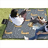 """BigHappyShop Picnic Blanket Party Sausage Waterproof Extra Large Outdoor Mat Camping Or Travel Easy Carry Compact 59""""x57"""""""