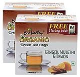 #10: Hypercity Combo - Eco Valley Organic Green Tea Ginger, Mulethi and Lemon, 30 Tea Bags (Pack of 2) Promo Pack