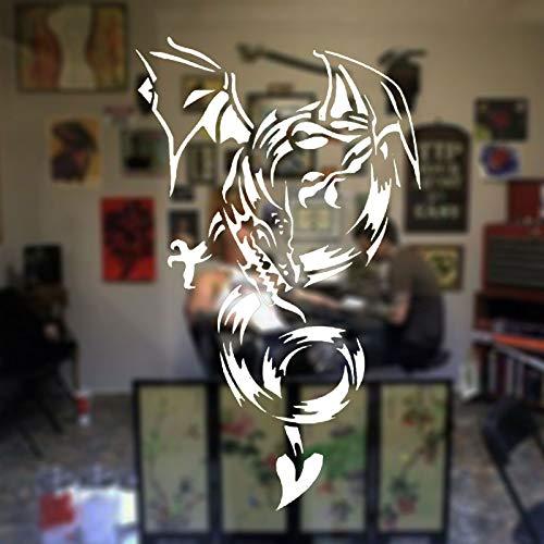 hllhpc Westlichen Ländern Drachen Wandaufkleber Vinyl Wohnkultur Zimmer Tier Fenster Decor Removable Tattoo Ladentür Sticker42 * 70 cm