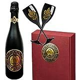 Luxus Sekt Geschenk für Paare | Only for us Geschenkset Sekt-Cuvée | inkl. 2 goldenen Champagner-kelchen aus Kristallglas | Das Luxusgeschenk für Frau, Freundin, Paare, Pärchen & Liebende | limitiert auf 2.500 Flaschen | Für frisch Verliebte und beste Freunde