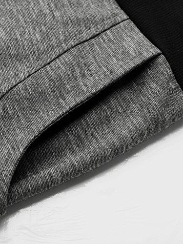 BAISHENGGT Damen Baggy Sweatpants Jogginghose Boyfriend Sports Hose All-Over Print Schwarz Grau
