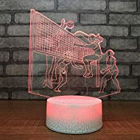 LNDDP 7 Color Changing 3D LED Playing Volleyball Desk Lamp Sleep Lighting Kid, New Year