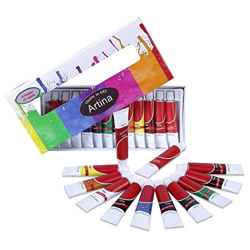 Artina Ölfarben Set Premio 12x12ml Ölmalerei Farben Künstlerfarben, Ölmalfarben Set für Hobby-Künstler & Malprofis