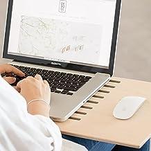 soporte para portátil, fabricado en madera, para utilizar el ordenador desde el sofá con