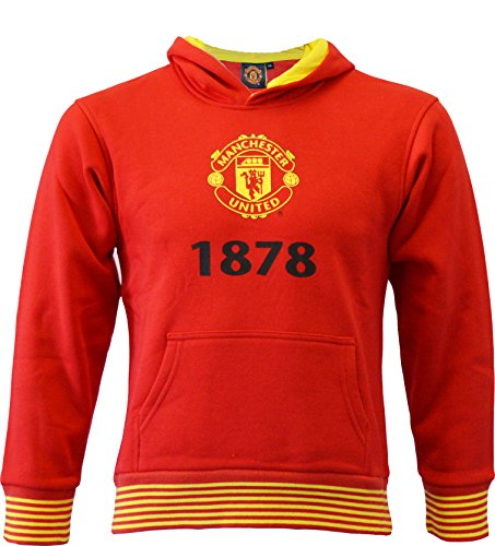 MANCHESTER UNITED FC Sweat Capuche MUFC - Collection Officielle Taille Enfant garçon 8 Ans