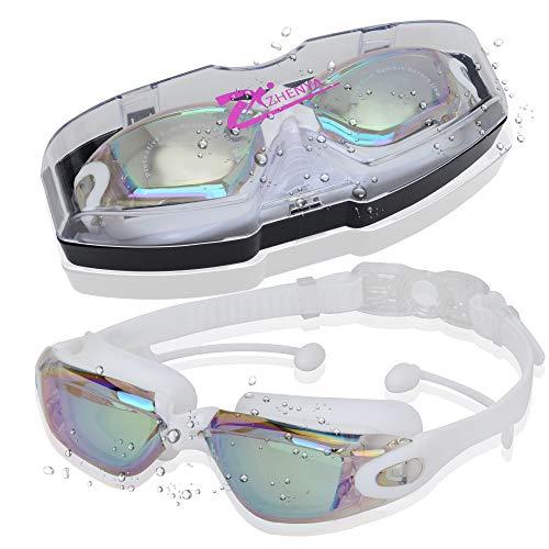MaYee Occhialini da Nuoto | Occhiali da Nuoto a Specchio Impermeabile | Anti Appannamento | Anti UV | Occhialini Nuoto per Adulti Adolescenti e Bambino