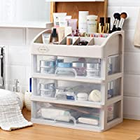 Cosmetic organisers home kitchen amazon aevel makeup storage box cosmetic organizer multi layer drawer for bathroom bedroom keeping your watchthetrailerfo