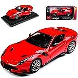 alles-meine.de GmbH Ferrari F12 TDF Coupe Rot 2012-2017 18-26021 1/24 Bburago Modell Auto mit individiuellem Wunschkennzeichen