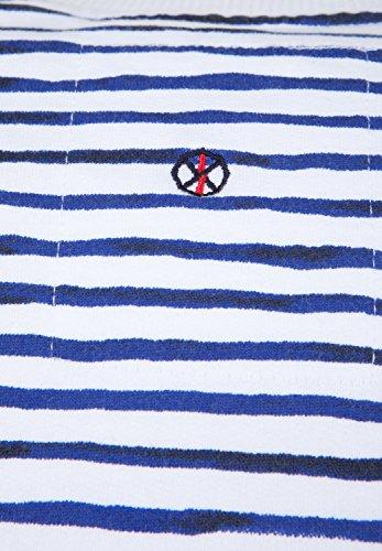 SHIRTS FOR LIFE - Veste Sweat - Décontracté - À Rayures - Manches Longues Femme Bleu Marine