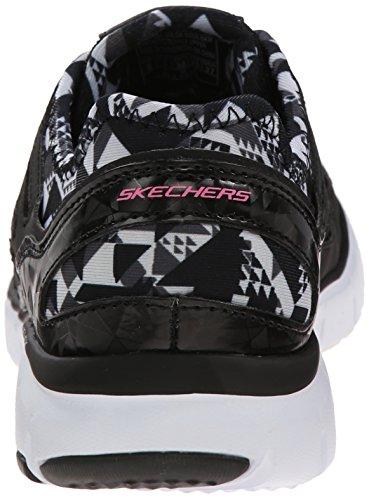 Skechers - Skech-flexultimate Reality, Scarpe da ginnastica Donna Nero (Nero (Bkw))