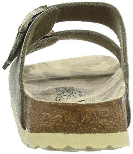 Birki Arizona Unisex-Erwachsene Pantoletten Grau (Stone)