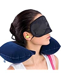 Finiviva Neck Pillow for Travel Memory Foam with Eye Mask and Ear Bud for Tourist Travel