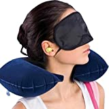 #10: Finiviva Neck Pillow for Travel Memory Foam with Eye Mask and Ear Bud for Tourist Travel