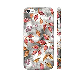 Colorpur iPhone SE Cover - Autum Leaves Silver Metal 1 Printed Back Case