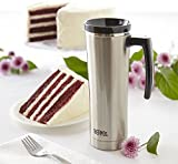 from Thermos Thermos Stainless Steel Travel Mug, Black/Silver, 470 ml Model 185542