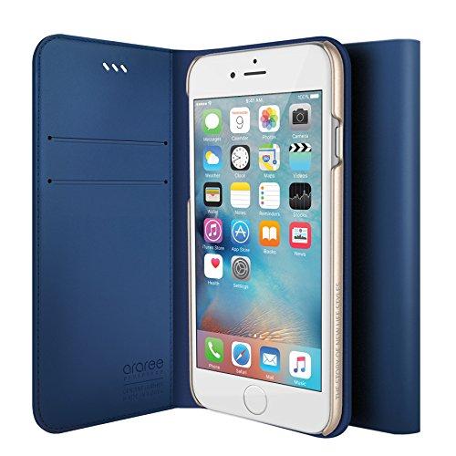 iPhone 6S Schutzhülle, araree® [das Original] Premium Echtleder Wallet Case Flip Cover Mit Kreditkarte ID Halter für Apple (2015) CLASSIC BLUE