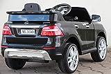Kinder Elektro Auto Mercedes Benz ML350 2x25W 12V Elektroauto Kinderfahrzeug Ferngesteuert Elektro ml 350 (Schwarz)