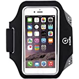Atolla iPhone 6 6S Workout Sports Running Armband with Earphone Key Holder with Adjustable Size Arm Band for Cycling Jogging Hiking Golfing Gym for iPhone 5 5S 5C SE Samsung Galaxy S5 S6 Edge(Black)