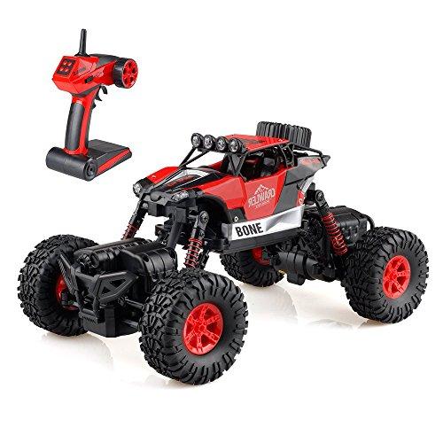 Crawler Auto (GizmoVine Ferngesteuerte Auto RC Car 1/16 Off-road Rock Crawler 2.4GHZ 4WD Auto Steigen 4-Modus-Lenkung Spritzwasserdicht (Rot))
